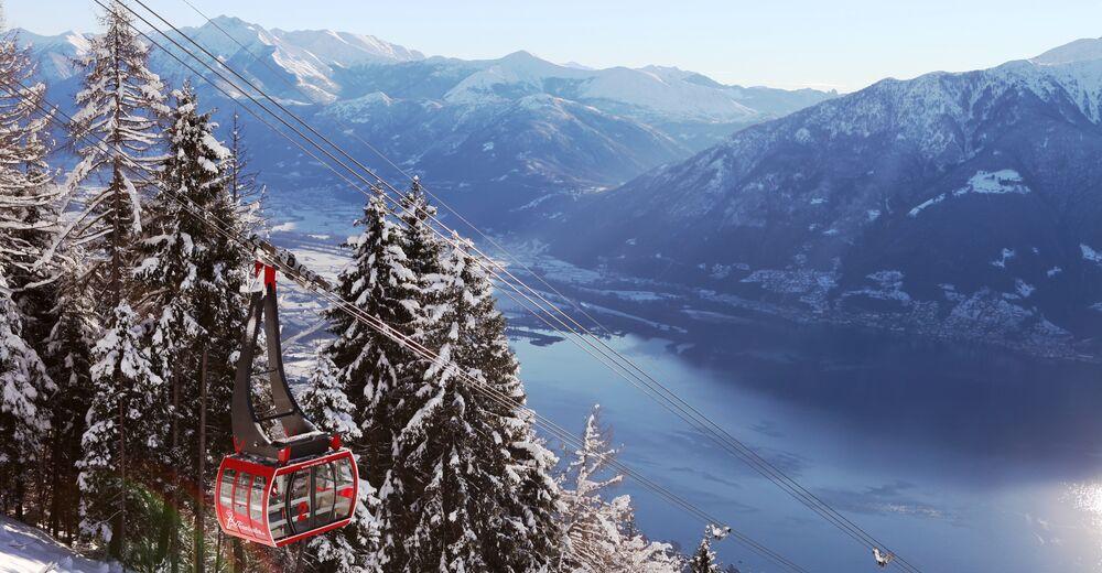 Pistplan Skidområde Cardada Cimetta / Locarno