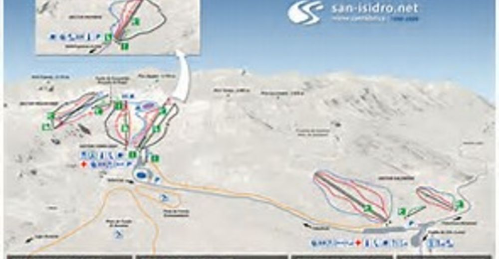 Mapa zjazdoviek Lyžiarske stredisko San Isidro / Cebolledo - Requejines
