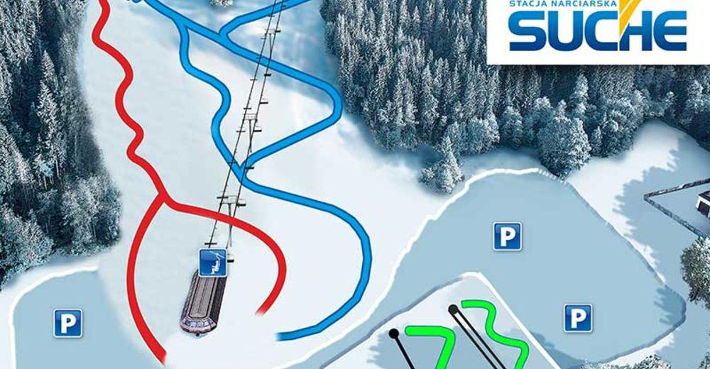 План лыжни Лыжный район Suche