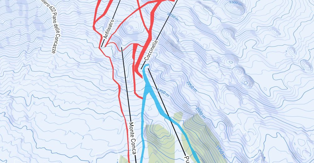 Piste map Ski resort Ätna Nord - Piano Provenzana Linguaglossa