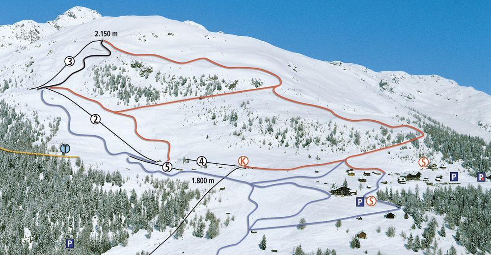 Piste map Ski resort Emberger Alm - Berg im Drautal
