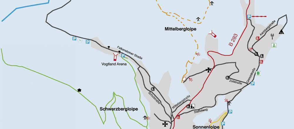 Loipenplan Klingenthal - Mühlleithen