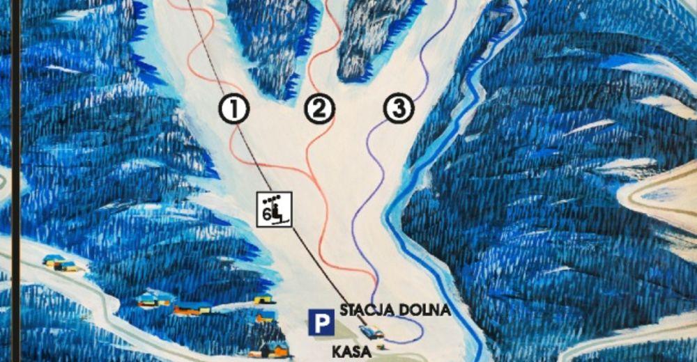 Pisteplan Skigebied Winterpol Karpacz - Biały Jar