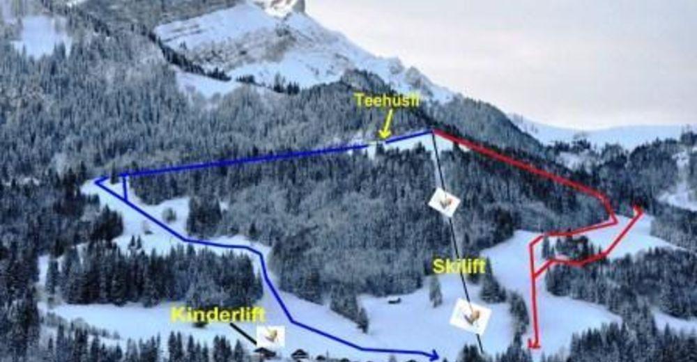 Pistenplan Skigebiet Schratten Flühli