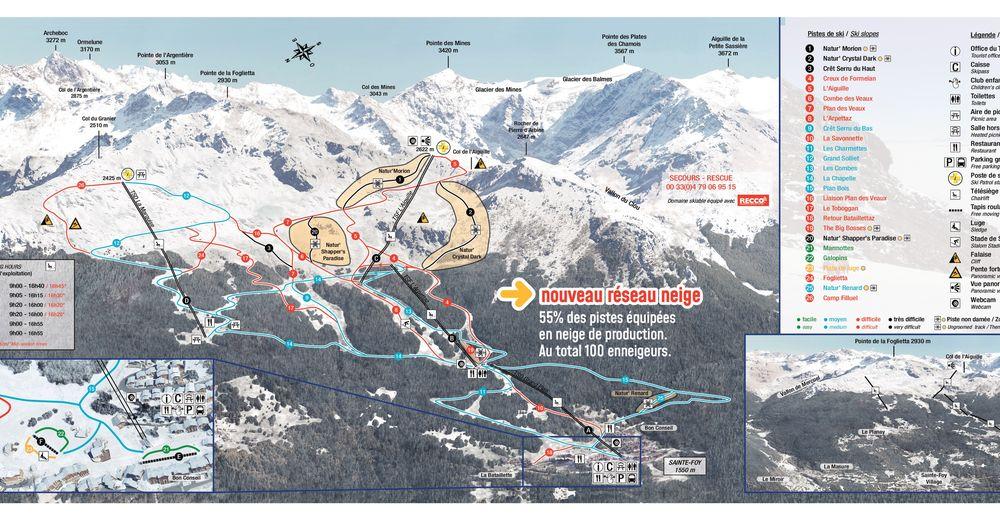 Piste map Ski resort Sainte Foy Tarentaise