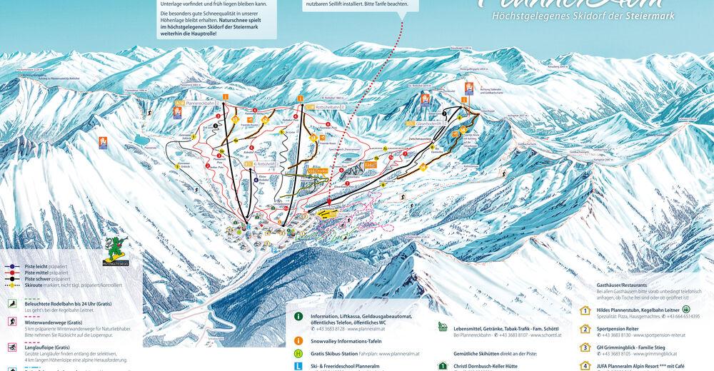 Plan de piste Station de ski Planneralm - Schneebären