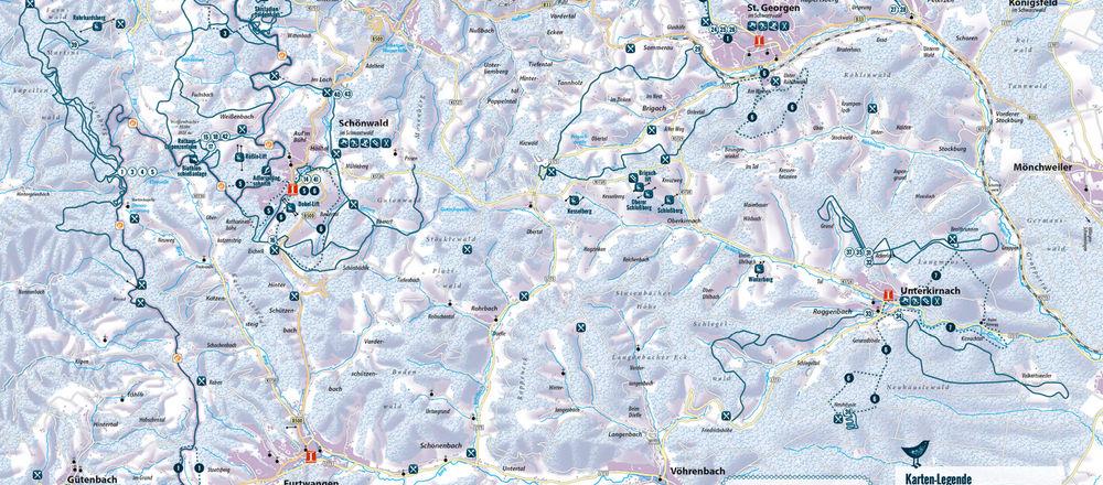 Loipenplan Schönwald im Schwarzwald