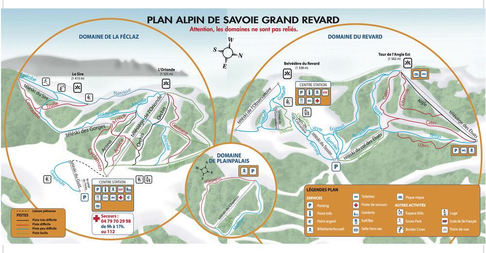 Pistenplan Skigebiet Plainpalais