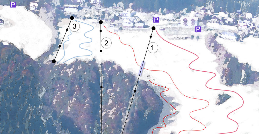 Planul pistelor Zonă de schi Schilifte Kirchschlag