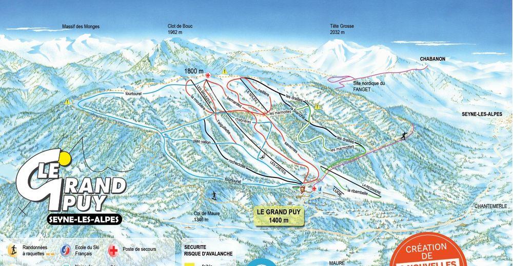 Bakkeoversikt Skiområde Le Grand Puy / Seyne-les-Alpes