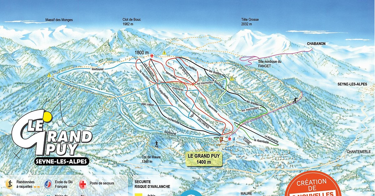 seyne les alpes france map Bergfex Ski Resort Le Grand Puy Seyne Les Alpes Skiing