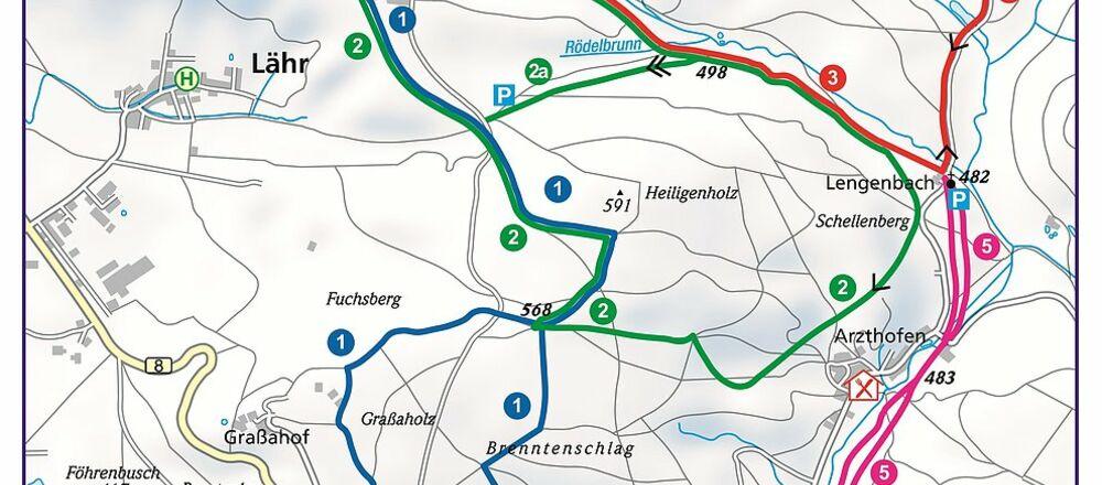 Loipenplan Lengenbachtal