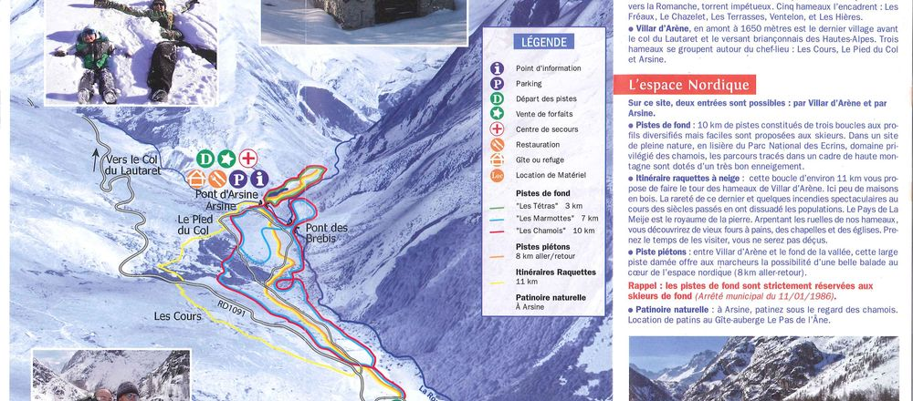 Loipenplan Villar d'Arène - Pays de la Meije