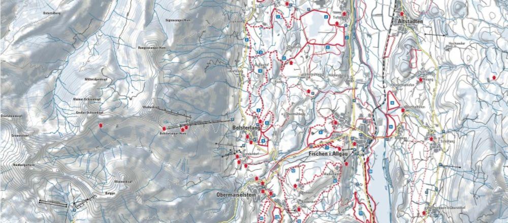 Loipenplan Hörnerdörfer im Allgäu