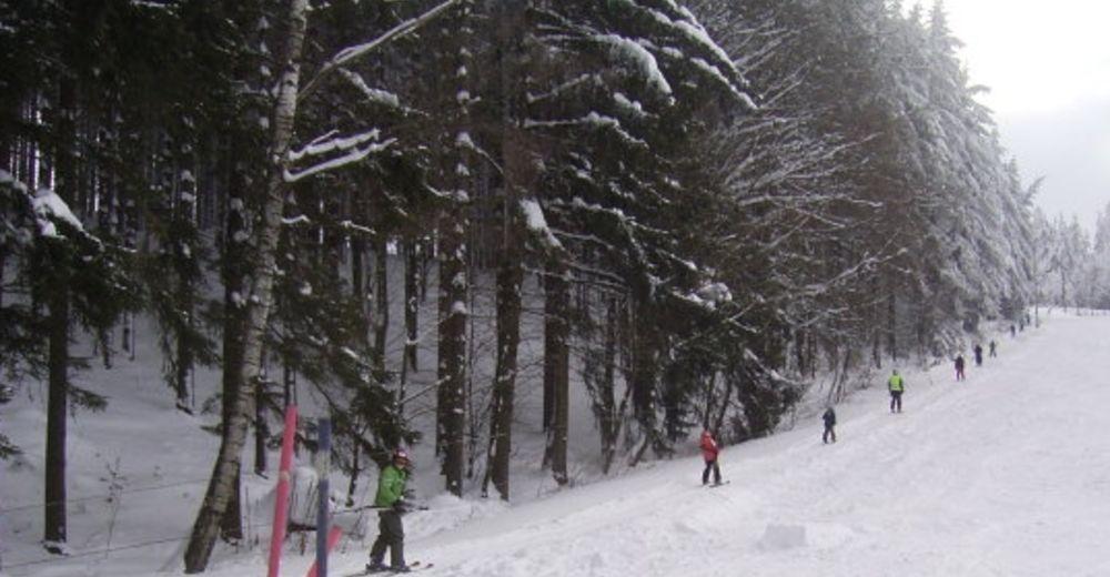 Pistenplan Skigebiet Döbrastöckenlift /Schwarzenbach