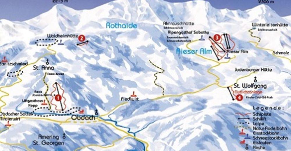 Mapa zjazdoviek Lyžiarske stredisko Skilift Waldheimhütte
