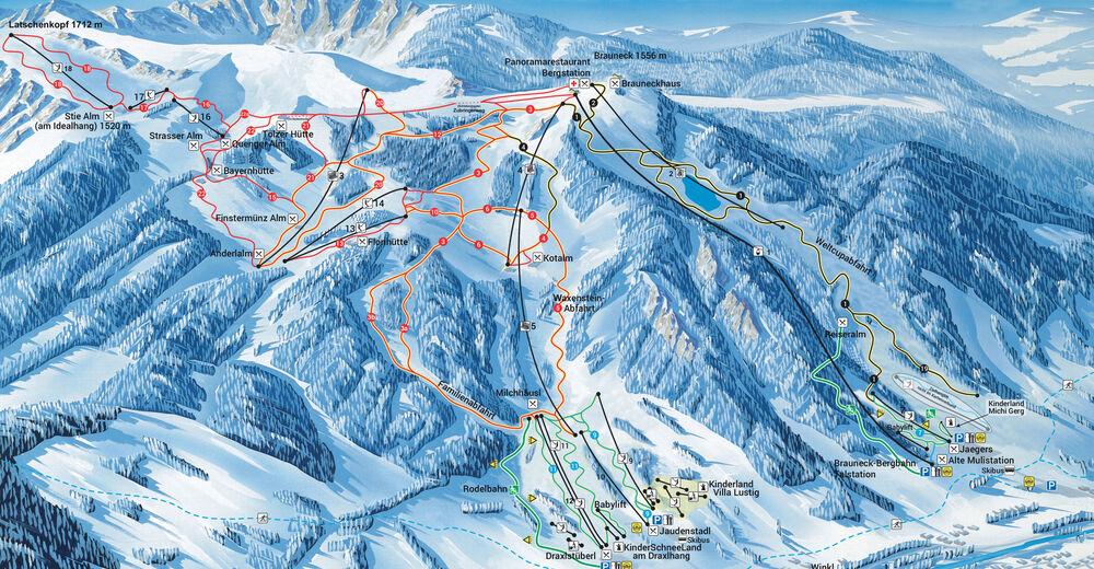Pistplan Skidområde Brauneck / Lenggries