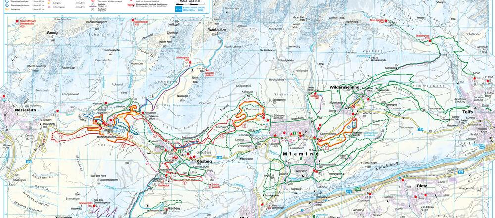 Loipenplan Mieminger Plateau