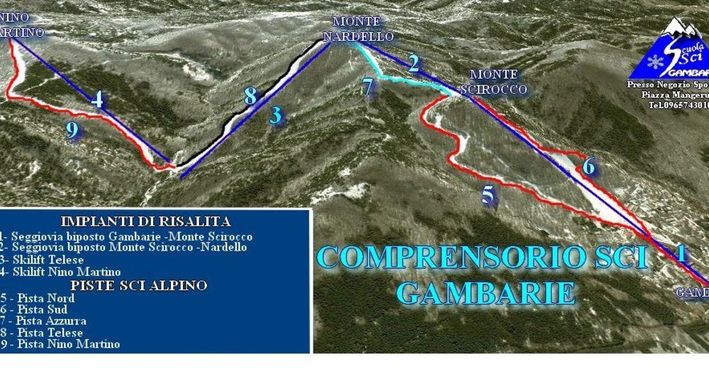 Piste map Ski resort Gambarie d'Aspromonte