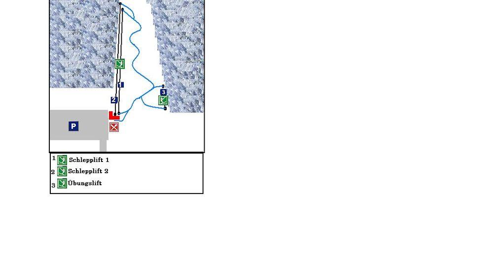 Planul pistelor Zonă de schi Laichingen