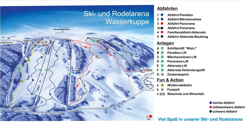 Bakkeoversikt Skiområde Wasserkuppe