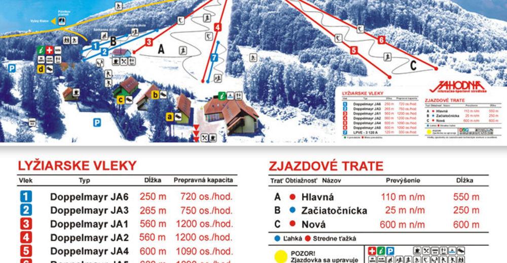 Pistenplan Skigebiet Jahodná