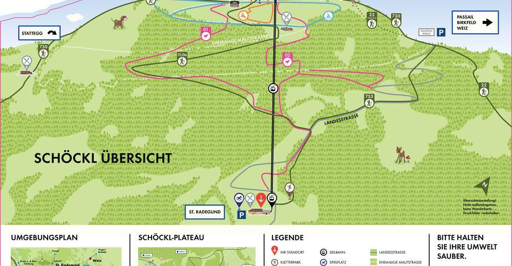 Pisteplan Skiområde Schöckl