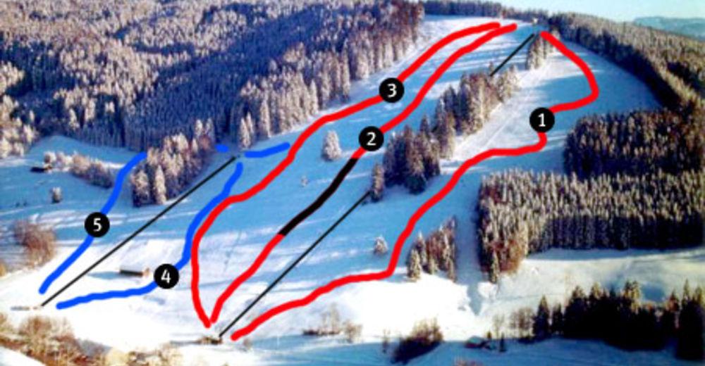 Planul pistelor Zonă de schi Iberg