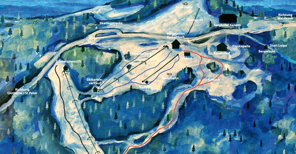 Planul pistelor Zonă de schi Kandellifte