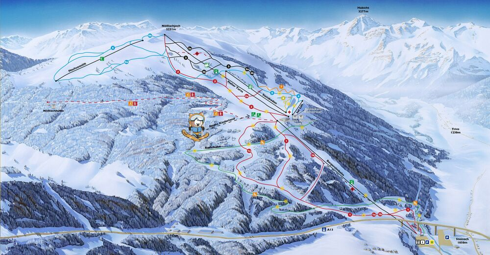 Piste map Ski resort Bergeralm - Steinach am Brenner