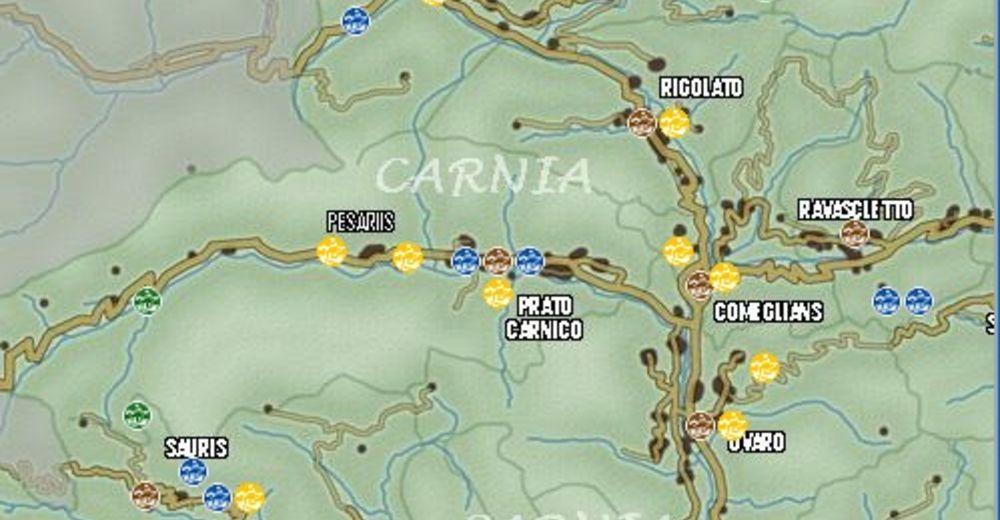 Piste map Ski resort Skianlagen Pradibosco