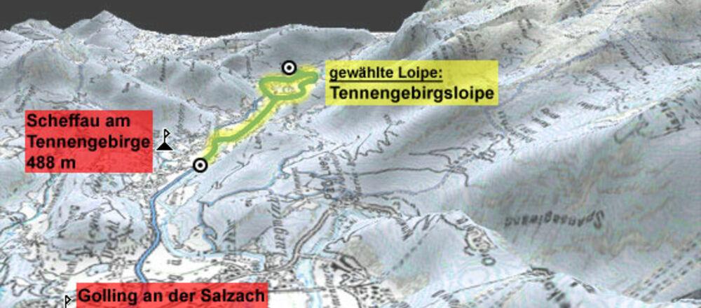 Loipenplan Scheffau am Tennengebirge