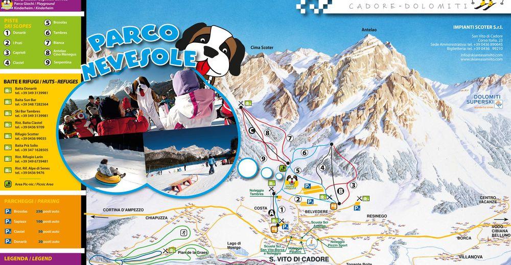 Pistplan Skidområde San Vito die Cadore