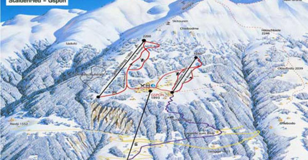 План лыжни Лыжный район Staldenried - Gspon