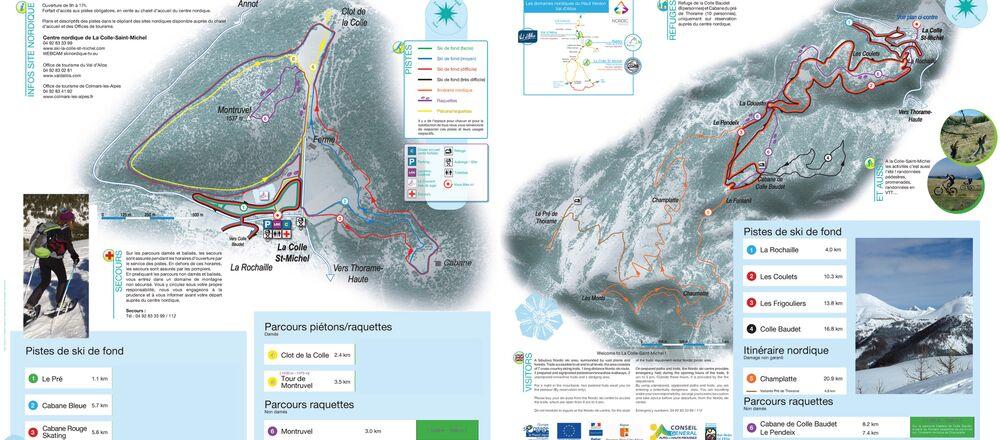 Loipenplan Colmars-les-Alpes - Colle Saint Michel