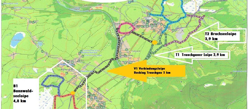 Loipenplan Halblech im Allgäu