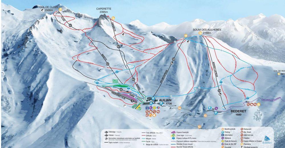 Pisteplan Skiområde Luz Ardiden