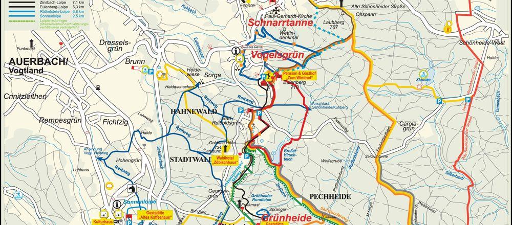 Loipenplan Auerbach