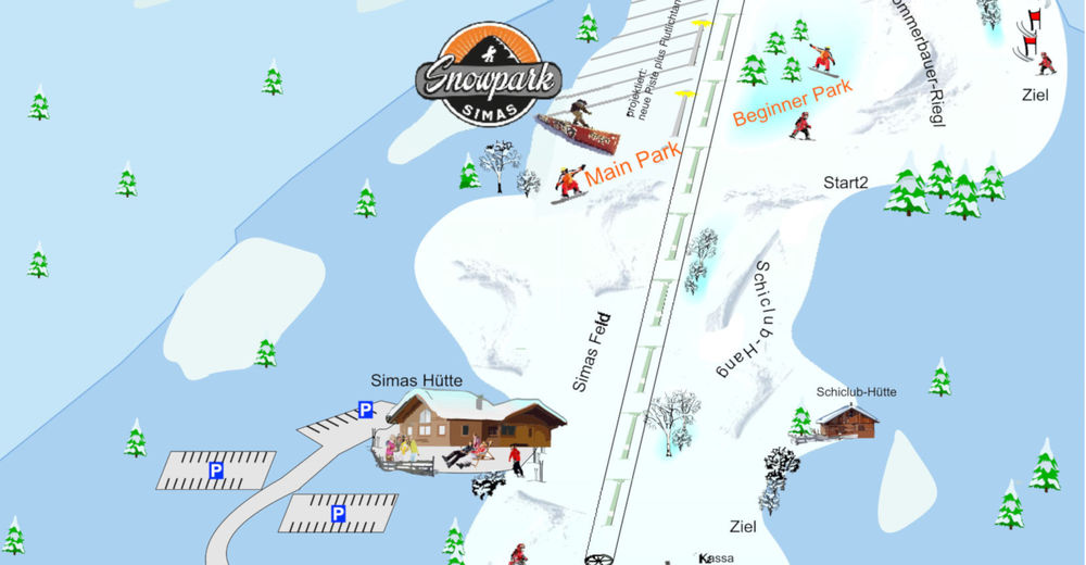 Piste map Ski resort St. Corona / St. Peter - Simas-Lifte