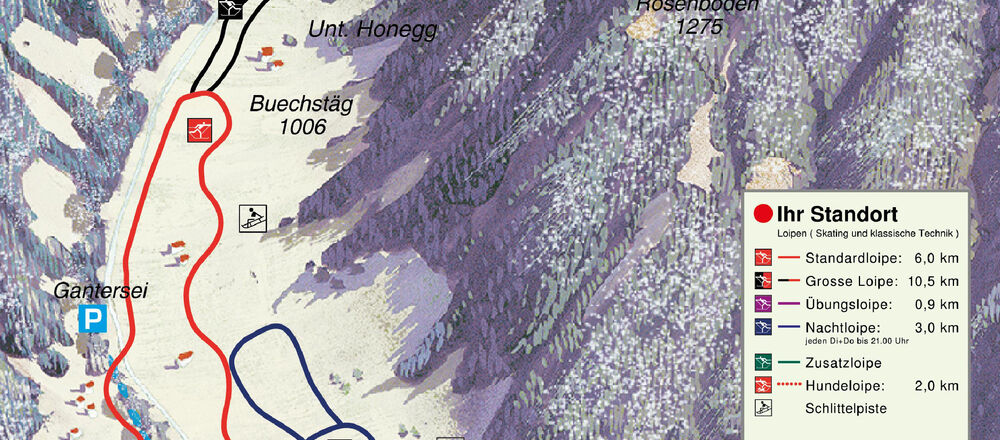 Loipenplan Eigenthal / Schwarzenberg
