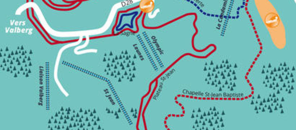 Loipenplan Beuil - Les Launes
