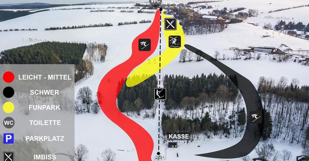 Pistenplan Skigebiet Hermsdorf / Erzgebirge