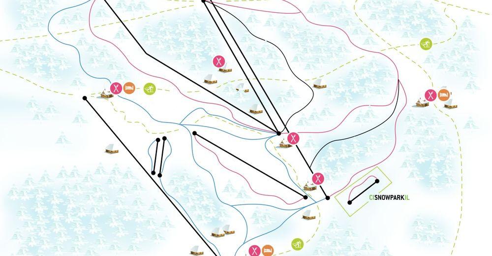 Piste map Ski resort Horní Domky / Rokytnice nad Jizerou
