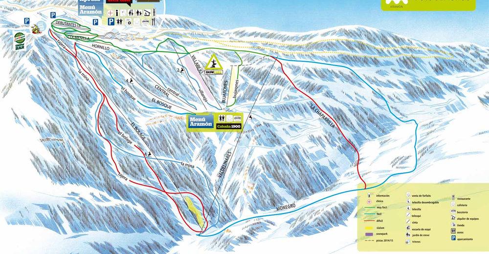 Planul pistelor Zonă de schi Valdelinares