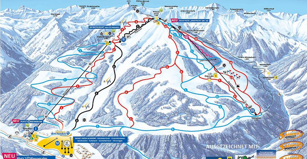 Plan de piste Station de ski Riesneralm - Schneebären