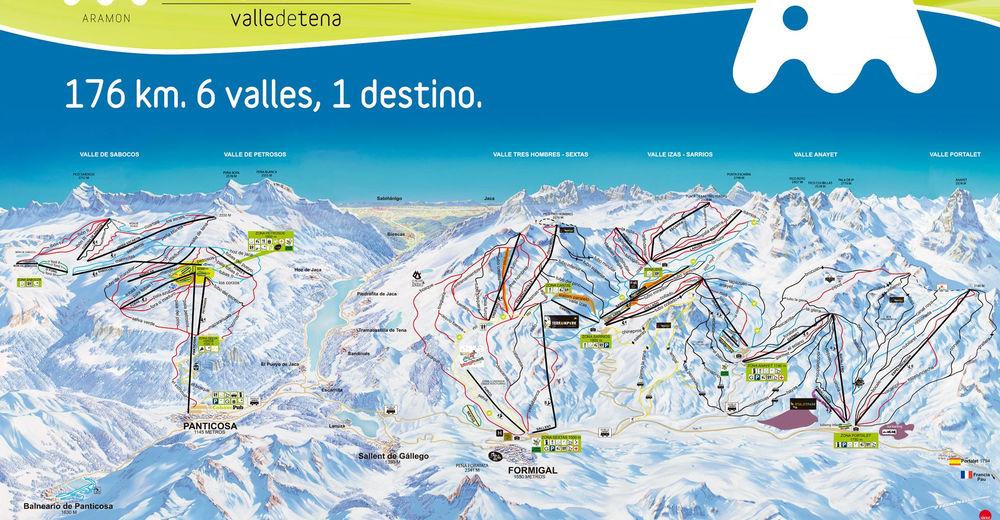 Planul pistelor Zonă de schi Formigal