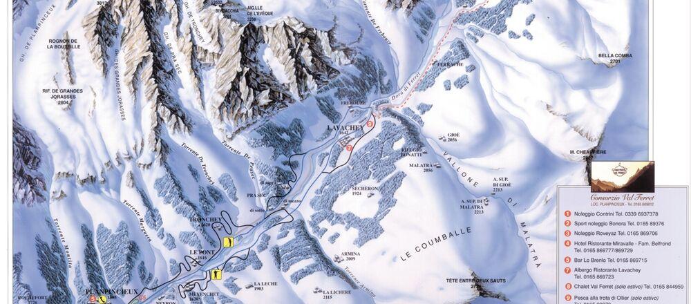 Loipenplan Courmayeur - Val Ferret