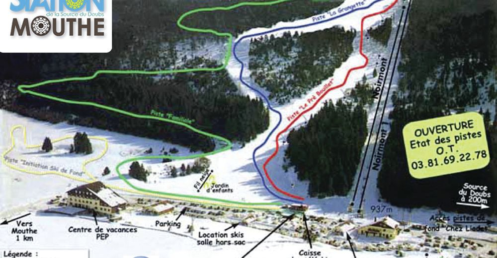 Piste map Ski resort Mouthe