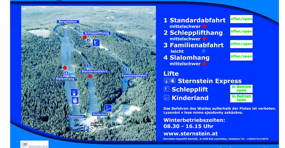 Piste map Ski resort Sternstein Lifte - Bad Leonfelden