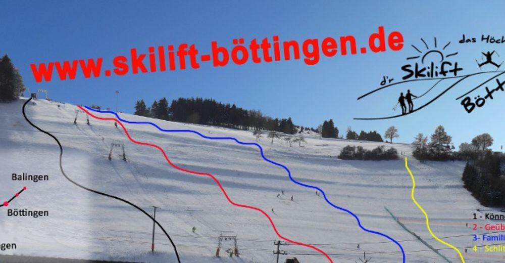 Pistenplan Skigebiet Skilift Böttingen
